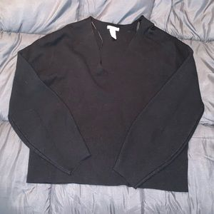 H&M Cropped Thick Sweater
